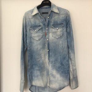 Dsquared2 men's denim shirt . Size 44 IT